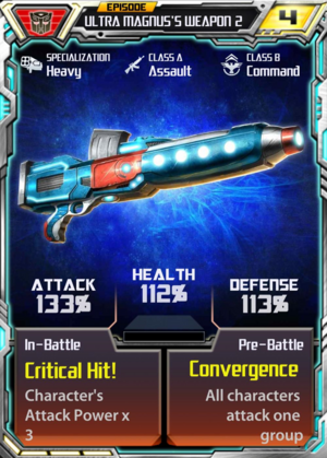 Episode Ultra Magnus's weapon