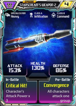 Episode Starscream's weapon
