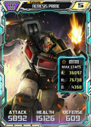 Episode Nemesis Prime robot