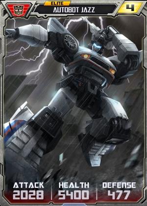Elite Autobot Jazz robot