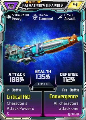 Episode Galvatron's weapon