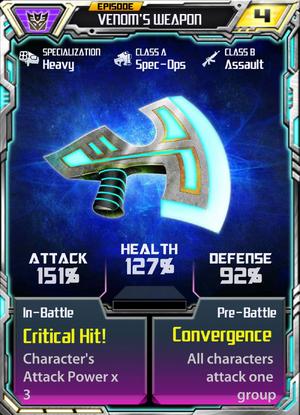 Episode Venom's weapon