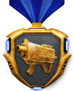 Gold weapons medal