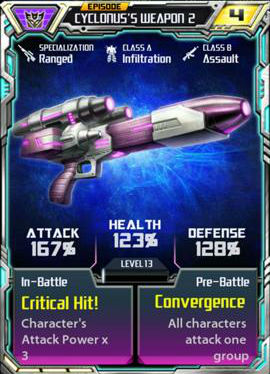 Episode Cyclonus's weapon