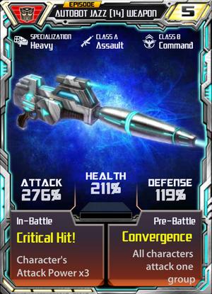 Autobot Jazz 14 Weapon
