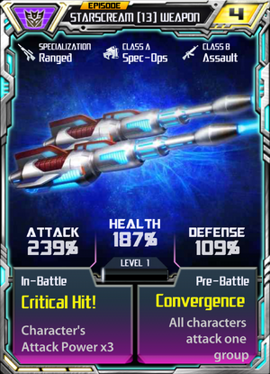 Starscream 13 Weapon