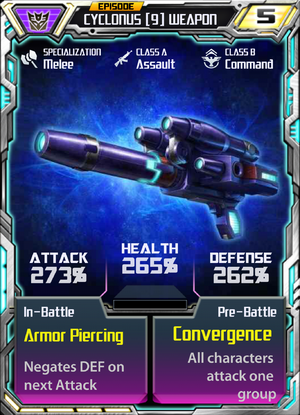 Cyclonus 9 Weapon