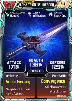 Alpha Trion 2 Weapon
