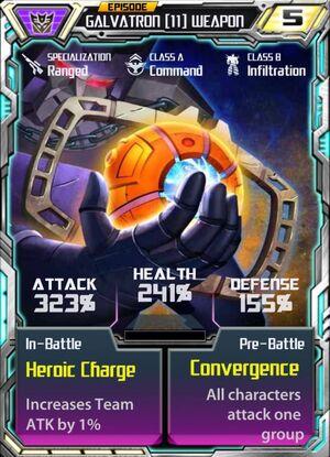 Galvatron 11 Weapon