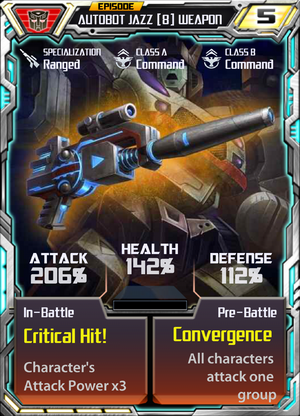 Autobot Jazz 8 Weapon