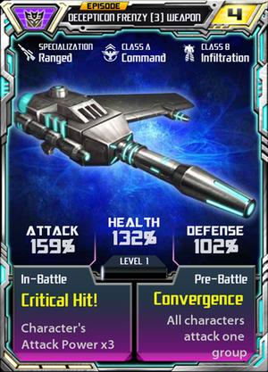 Decepticon Frenzy 3 Weapon