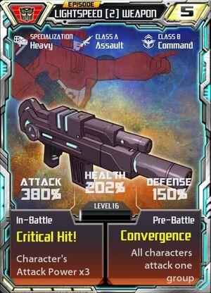 Lightspeed 1 Weapon