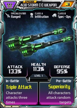 Acid Storm 1 Weapon