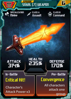 Snarl 7 Weapon