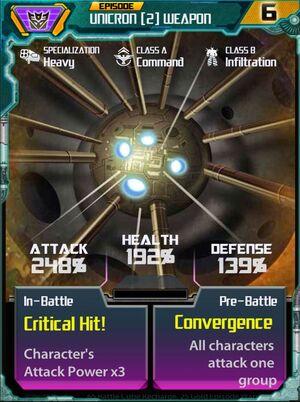 Unicron 2 Weapon