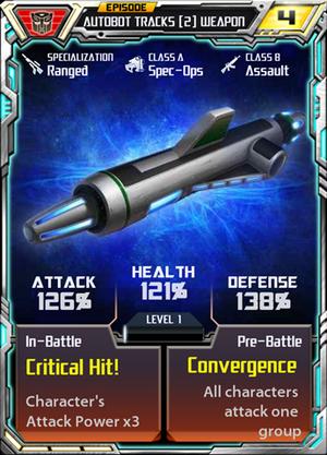 Autobot Tracks 2 Weapon