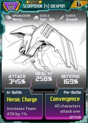 Scorponok 4 Weapon