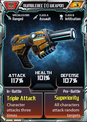 Bumblebee 1 Weapon