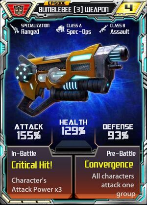 Bumblebee 3 Weapon