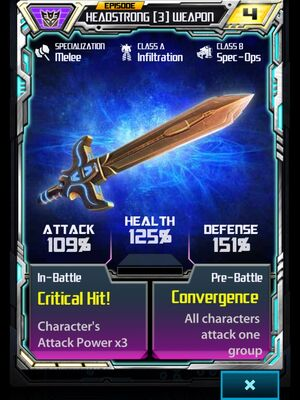Headstrong (3) Weapon
