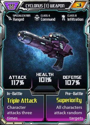 Cyclonus 1 Weapon