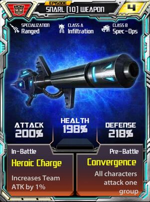 Snarl 10 Weapon