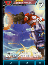 Optimus Prime 9 Robot - Base Stats