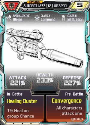 Autobot Jazz 12 Weapon