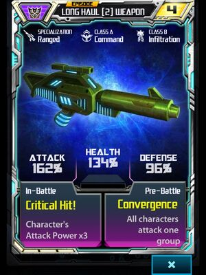Long Haul (2) Weapon