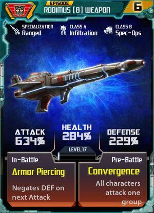 Rodimus 8 Weapon