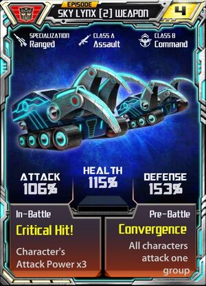 Sky Lynx (2) Weapon