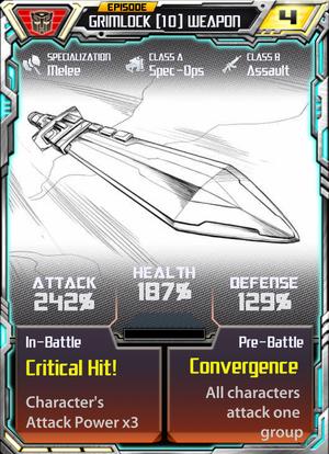 Grimlock 10 weapon