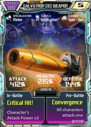 Galvatron 8 Weapon