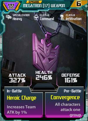 Megatron 17 Weapon