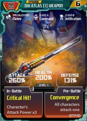 Dai Atlas 1 Weapon