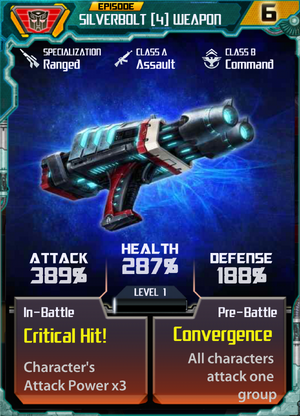 Silverbolt 4 Weapon