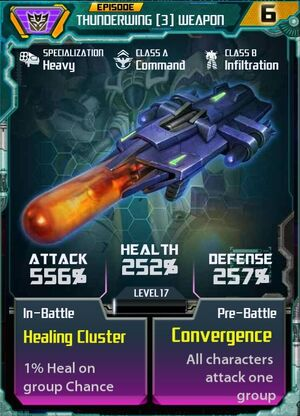 Thunderwing 3 Weapon