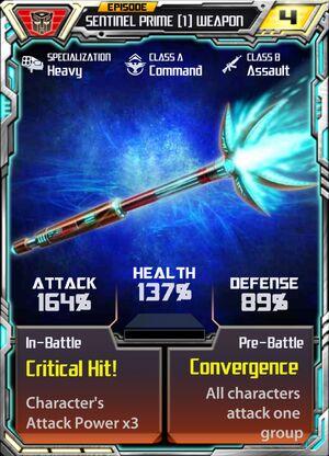 Sentinel Prime 1 Weapon