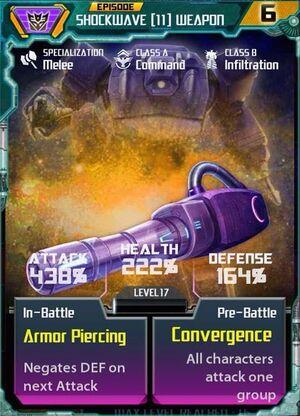 Shockwave 11 Weapon