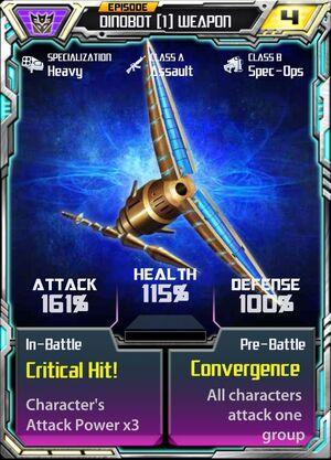 Dinobot 1 Weapon