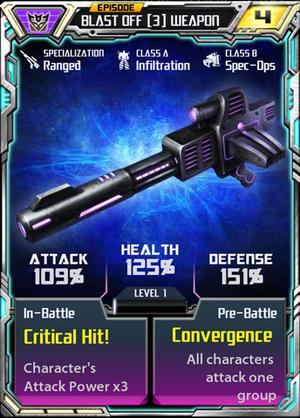 Blast Off 3 Weapon