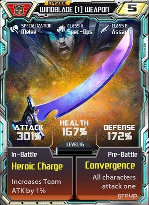 Windblade 1 Weapon