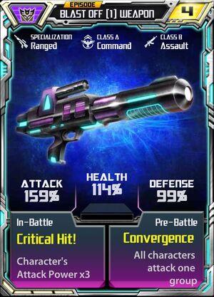 Blast Off 1 Weapon