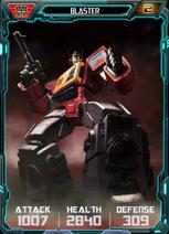 Blaster Robot - Cyberdex Trans-Scan Stats