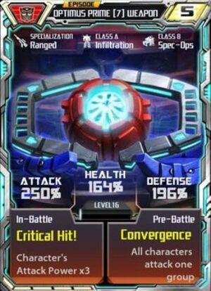 Optimus Prime 7 Weapon