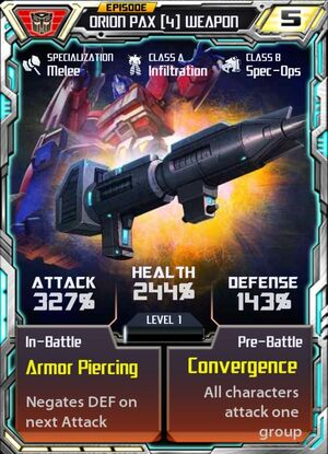 Orion Pax 4 Weapon