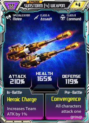 Sunstorm 4 Weapon