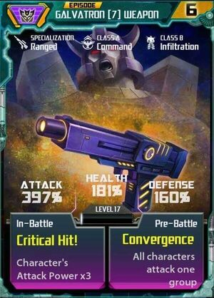 Galvatron 7 Weapon