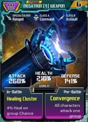 Megatron 9 Weapon
