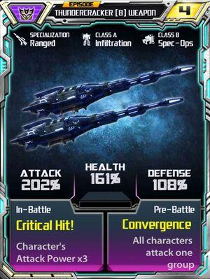 Thundercracker 8 Weapon